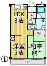 鎌倉ガーデンハイツ[102号室]の間取り