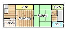 [テラスハウス] 大阪府東大阪市御厨栄町2丁目 の賃貸【/】の間取り