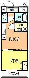 アントホーム堺[3階]の間取り