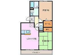 三重県四日市市石塚町の賃貸アパートの間取り