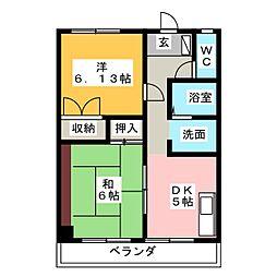 第一エステート富士[2階]の間取り