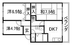 マッシュハイムII[2階]の間取り