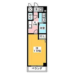 エントピア錦[1階]の間取り