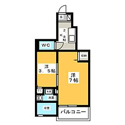 モダンkmII[2階]の間取り
