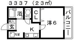 メゾンシャルマン[107号室号室]の間取り