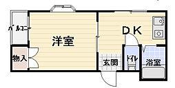 サンシャイン八雲[4階]の間取り
