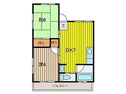 川上アパート[1階]の間取り