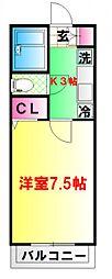 東京都中野区沼袋3丁目の賃貸マンションの間取り