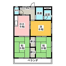 メゾン八田[1階]の間取り