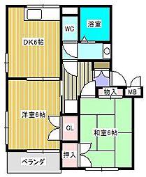 サンVパーク5[1階]の間取り