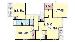 シャーメゾンセレッソカーサ[3階]の間取り