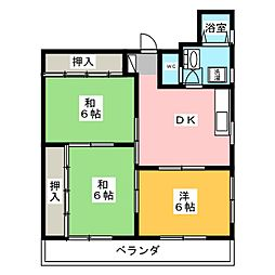 泰水堂城西ビル[4階]の間取り