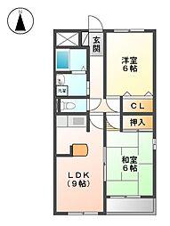 栄ハイム[1階]の間取り