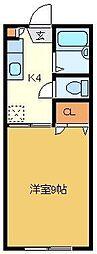 ロイヤルクレスト[1階]の間取り