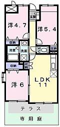 東京都立川市砂川町3丁目の賃貸マンションの間取り