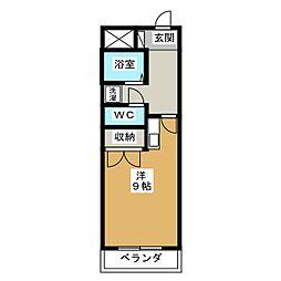 花の木ビル[5階]の間取り