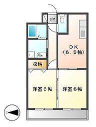第3タジックビル[8階]の間取り