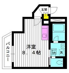 東京都練馬区旭丘の賃貸アパートの間取り