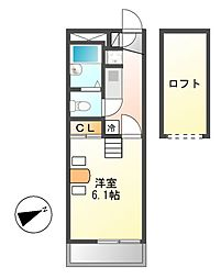 レオパレスM&m[1階]の間取り