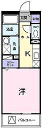 東京都府中市南町1丁目の賃貸マンションの間取り