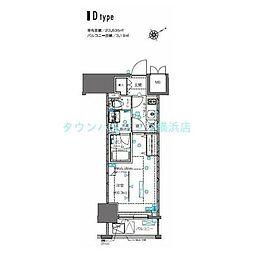 ZOOM横浜桜木町(ズームヨコハマサクラギチョウ) 8階1Kの間取り