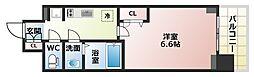 Osaka Metro谷町線 四天王寺前夕陽ヶ丘駅 徒歩6分の賃貸マンション 7階1Kの間取り