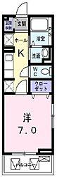 鷹匠町アパート1[3階]の間取り