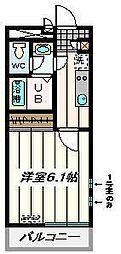JR埼京線 武蔵浦和駅 徒歩9分の賃貸マンション 3階1Kの間取り