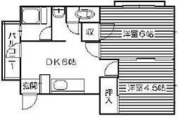 宮川ビル[401号室]の間取り