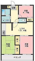 東京都練馬区西大泉3丁目の賃貸マンションの間取り