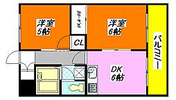 カーソル高井田 203号室[2階]の間取り