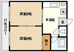 芦屋川マンション[5階]の間取り