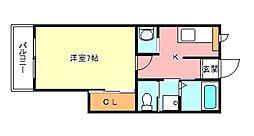 ラグレース金剛[2階]の間取り