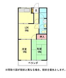 愛知県江南市木賀東町新宮の賃貸アパートの間取り