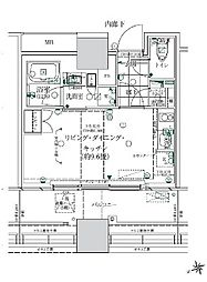 ローレルタワールネ浜松町 2階ワンルームの間取り