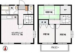 [タウンハウス] 神奈川県横浜市都筑区桜並木 の賃貸【/】の間取り