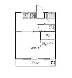 東京都練馬区石神井台7丁目の賃貸アパートの間取り