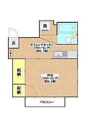 岡田ハウス[201号室]の間取り