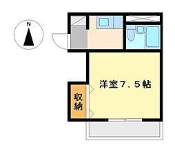 愛知県名古屋市中村区中村町7丁目の賃貸マンションの間取り