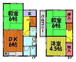 [一戸建] 埼玉県草加市西町 の賃貸【/】の間取り