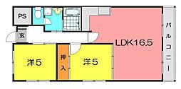 カサベルデイケダI[4階]の間取り