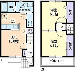 アーバンハイツ B[2階]の間取り