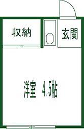 第三かしわ荘[11号室]の間取り