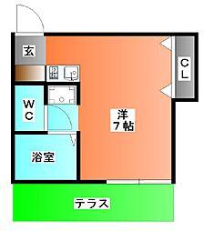 ルーセントK[1階]の間取り