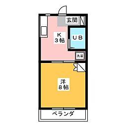 マンションヒバリ[1階]の間取り