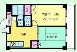 ベルハイツ3[202号室号室]の間取り