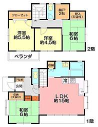 [一戸建] 神奈川県横浜市泉区和泉が丘3丁目 の賃貸【/】の間取り