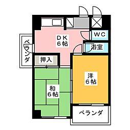 高瀬ビル[4階]の間取り