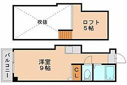 ヤマトビル 2[3階]の間取り