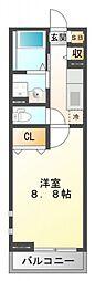 MATSU-KAZE II[1階]の間取り